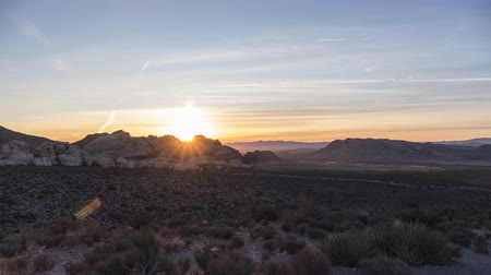 Sunrise time lapse view towards Calico Rocks at Red Rock Canyon National Conservation Area near Las Vegas Nevada.