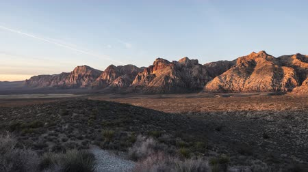 Morning time lapse view of Red Rock Canyon National Conservation Area near Las Vegas Nevada.