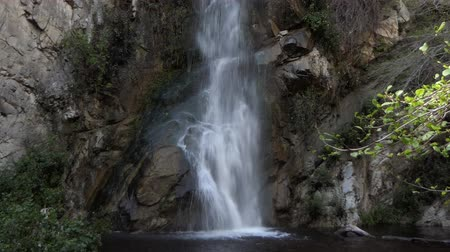 Sturtevant Falls in the San Gabriel Mountains above Los Angeles California.  View with zoom in.
