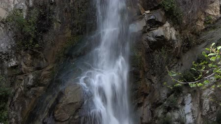 Sturtevant Falls in the San Gabriel Mountains above Los Angeles California.  View with zoom out.