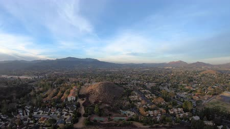Aerial view of Thousand Oaks and Newbury Park in Ventura County, California.