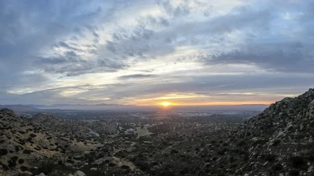 Los Angeles, California morning clouds time lapse above the San Fernando Valley and Santa Susana Pass.
