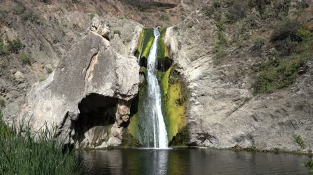 Paradise Falls with zoom out at Wildwood Regional Park in Thousand Oaks, California.