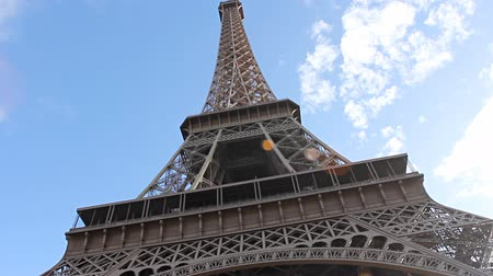 башни : Eiffel Tower. Paris, France. Стоковые видеозаписи