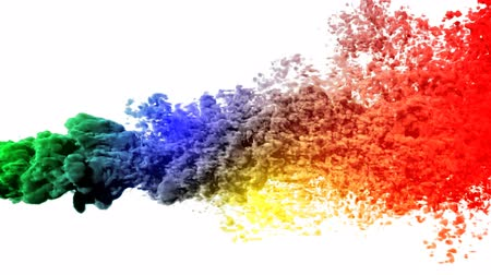 chemistry : Colored smoke. Stock Footage