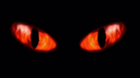 Animation of a evil looking fiery eyes.