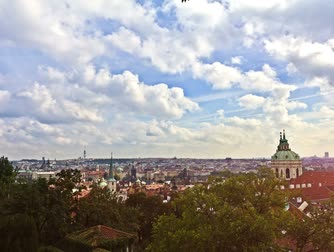 prague bridge : Prague. Time Lapse. Stock Footage