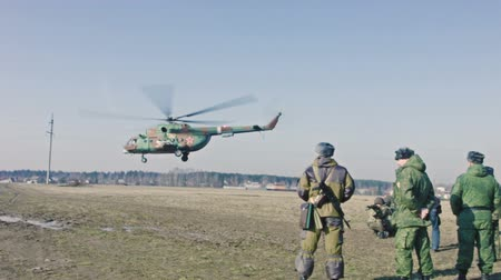 donanma : Military helicopter. Stok Video