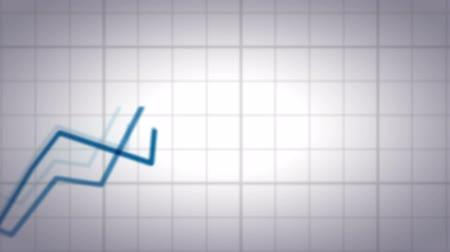 impostos : Positive and Negative Trend Chart on White Background. Stock Footage
