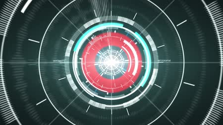 rodas : Abstract hi-tech circle element. Stock Footage