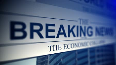 breaking news : Newspaper with breaking news titles. Stock Footage