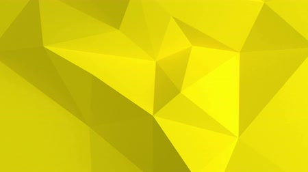 Abstract 3d background with polygonal pattern. Yellow color.
