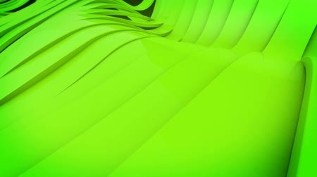 wall paper : Wavy band surface animation. Green color. Stock Footage