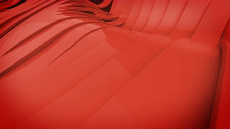 wall paper : Wavy band surface animation. Red color.