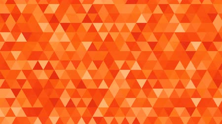 pikselli : Abstract background loop of orange triangles of a different shapes in a geometric pixelated mosaic tile pattern Animation 3d animation