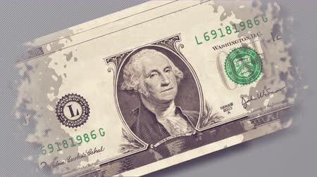 business values : One dollar bill animation. Business concept.