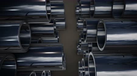 трубка : 3d rendering of Metal tubes stack with reflection