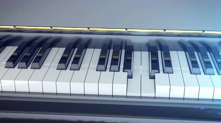 piano parts : Keys of a piano are pressed and then the piano is closed. Classic music concept. Stock Footage