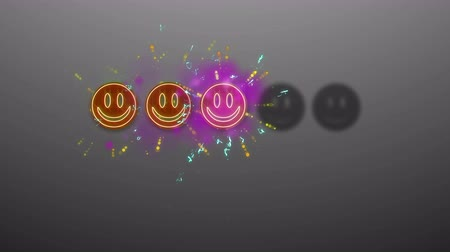 buzki : Set of Animation of Face Smile vote rating with luma matte channel