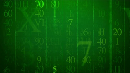 aritmetický : Animation of random numbers figures on a green background. Seamless loop.