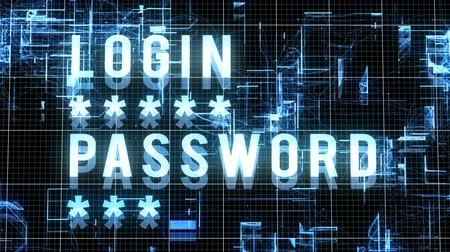 hozzáférés : Entering Login and Password with Access Allowed Result on Modern technology background. Internet Technology Safety Concept.