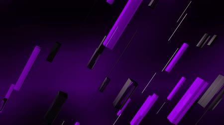 inclinado : A futuristic 3d rendering of purple, grey and black lines moving aslant in the violet background. The lines rush oppositely as if they are a part of some cyber appliance.