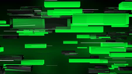 forro : A visual art 3d rendering of salad, grey and black lines flying horizontally in the dark green background. The lines move in opposite directions automatically. Stock Footage