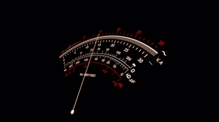 tachometer : A stunning 3d rendering of a special gauge placed askew. It has three lines of numbers and a trembling long white arrow in the black background. It functions properly.
