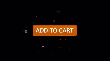add to cart : An optimistic 3d rendering of an oval sandy button with an inscription add to a cart with a white arrow touching it in the black screen. The icon turns white and some funny signs appear.