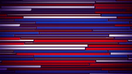 feloszt : An impressive 3d rendering of horizontal colorful blinds moving slowly and changing the colors of lines. They vary fom red to blue, violet and white. The blinds look cheerful and optimistic.