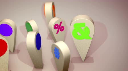 cytat : A positive 3d rendering of such colorful computer signs as question and exclamation marks, at and dollar symbols, standing in a circle and moving one after another happily. They look optimistic.