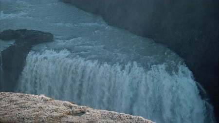 foss : Giant waterfall, Iceland Stock Footage
