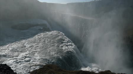 foss : Giant waterfall in slow motion Stock Footage