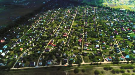 tilt shift : Village high aerial survey tilt shift miniature