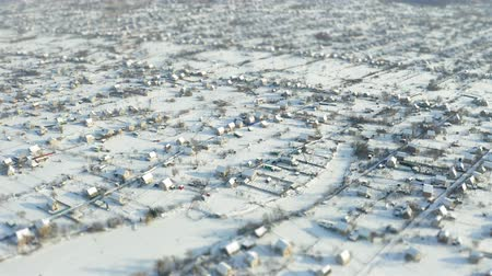 arrabaldes : Fly over winter suburb aerial survey tilt shift miniature