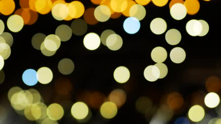 desfocado : City lights illumination. Bokeh lights background. Out of focus