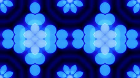 concêntrico : Blue bokeh kaleidoscope sequence pattern. Abstract motion graphics background Vídeos