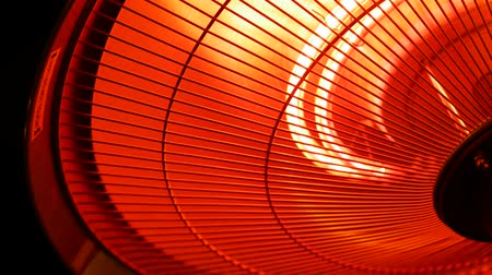 grzejnik : Infrared heater lamp. Close up Wideo