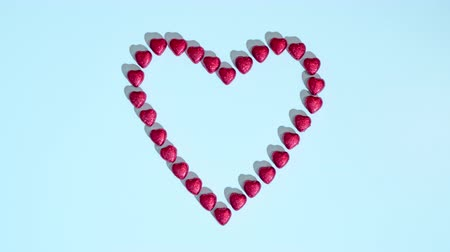 Heart appears in stop motion