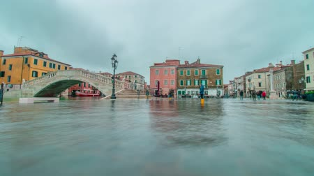Chioggia flooded with water from the sea