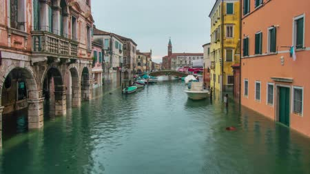 Timelapse of Chioggia city flooded