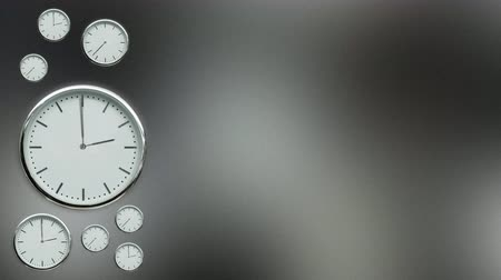 полночь : Wall clocks in timelapse with empty space