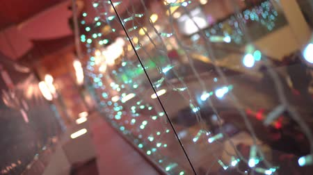Christmas lights in the mall 動画素材