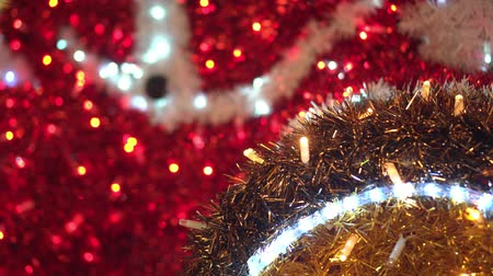 Red and flashing Christmas decoration 動画素材