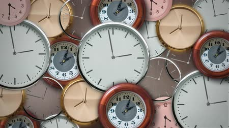 Many clocks mixed in timelapse 動画素材