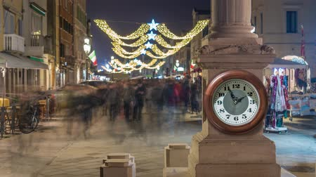time year : Timelapse of people walking in ancient city