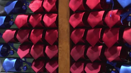 red tie : Mens ties hanging on the shop wall