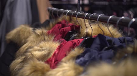 sem camisa : Winter jackets for sale in the store Stock Footage