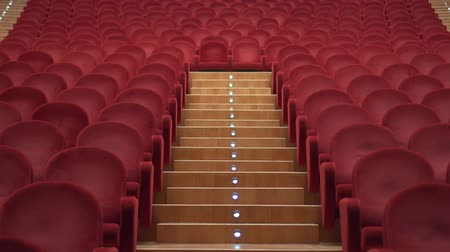 concertgebouw : Empty theater with red chairs