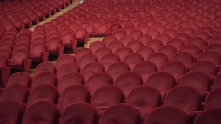 concertgebouw : Red chairs of the empty theater
